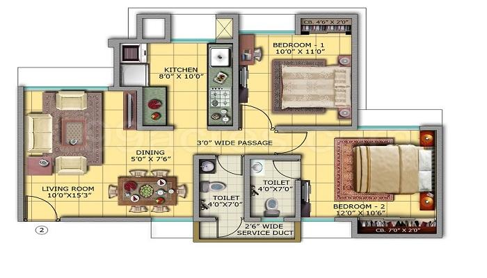 Vardhman Gardens Floor Plan