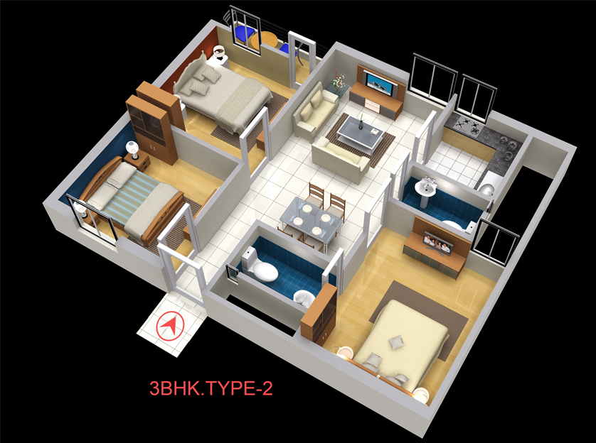 Neumec Chandellior Court Floor Plan