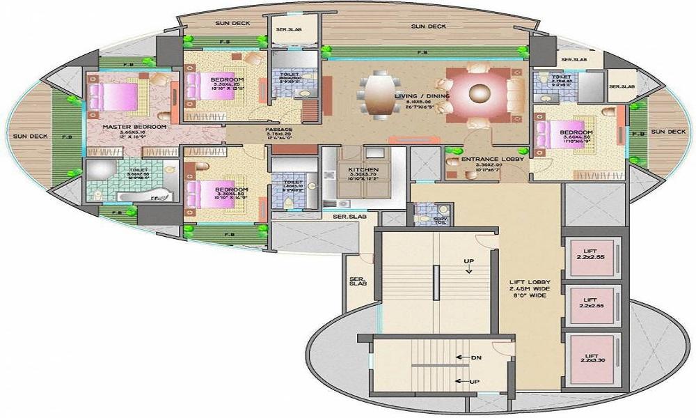 Lokhandwala Victoria Floor Plan
