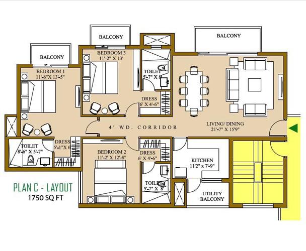ATS Pristine Floor Plan