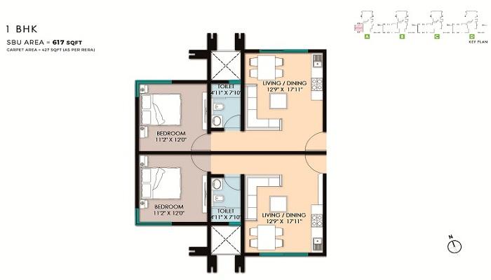 Pebble Bay By Advantage Raheja Floor Plan
