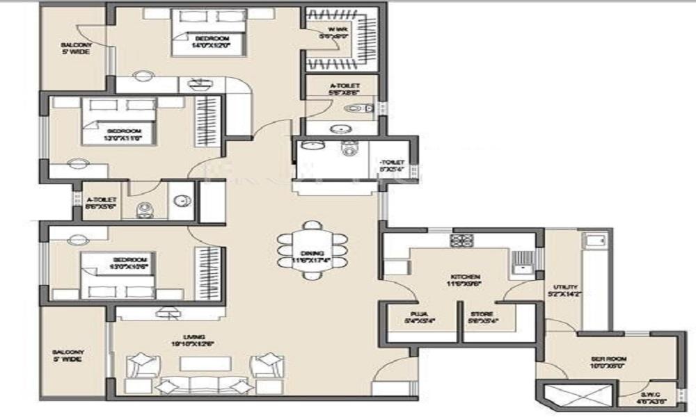 Valmark CityVille Floor Plan