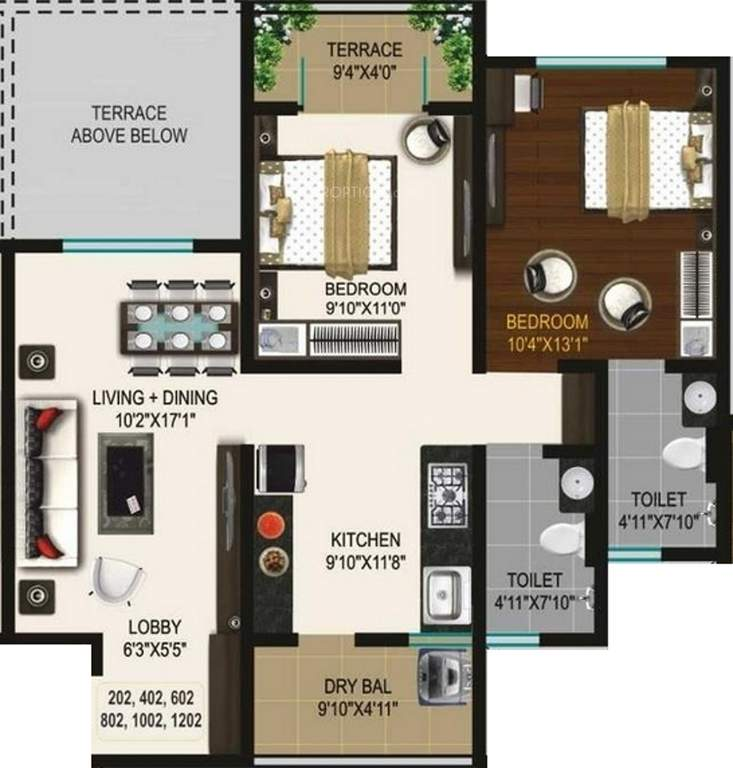 Ganga Glitz Floor Plan