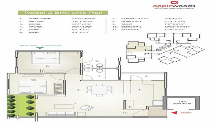 Applewoods Sorrel Floor Plan