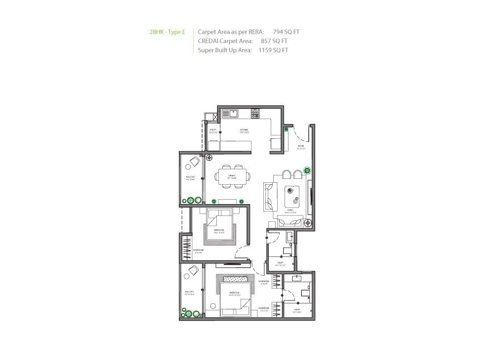 Assetz 63 Degree East Floor Plan