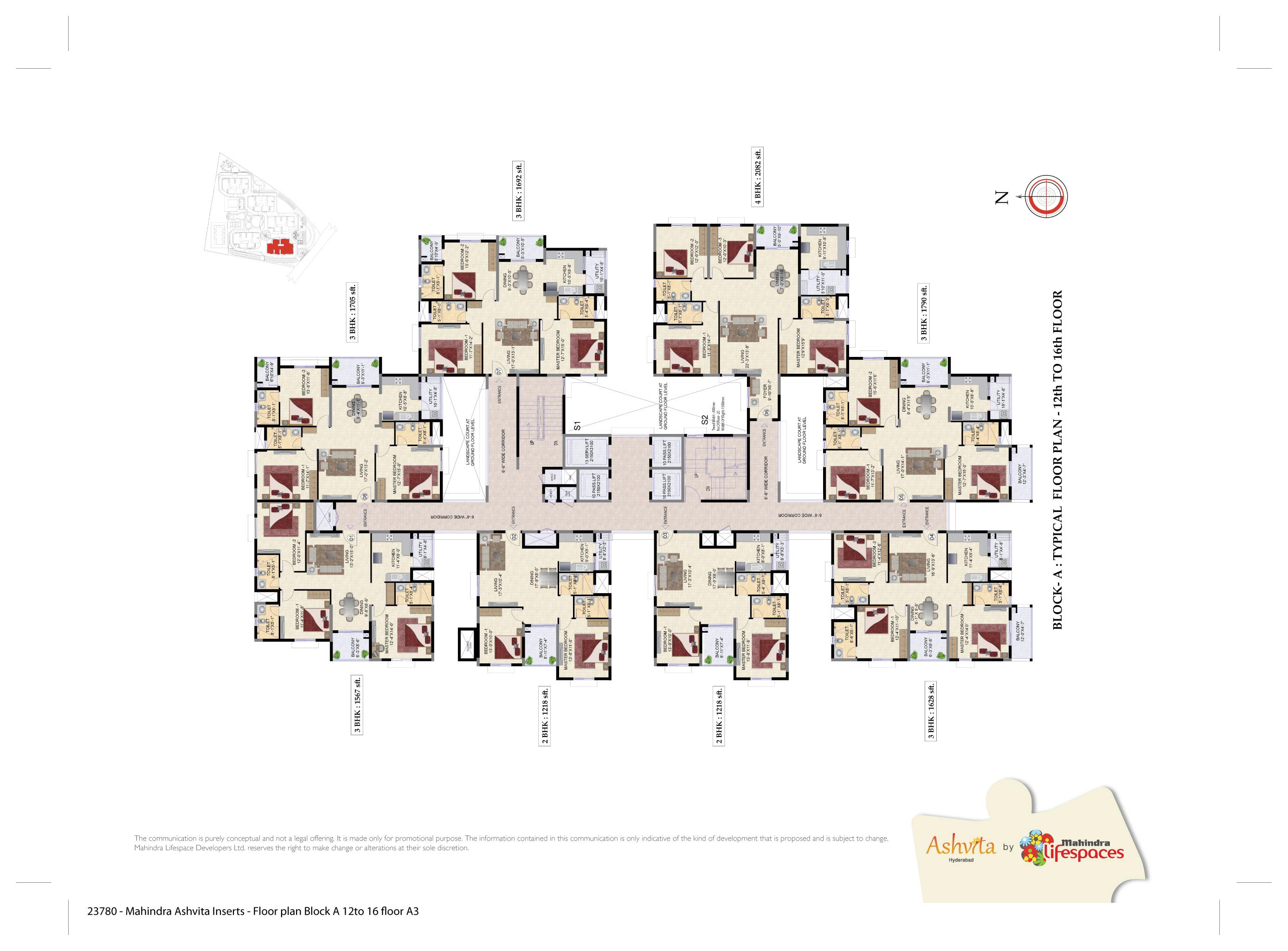 Mahindra Lifespaces Ashvita Floor Plan