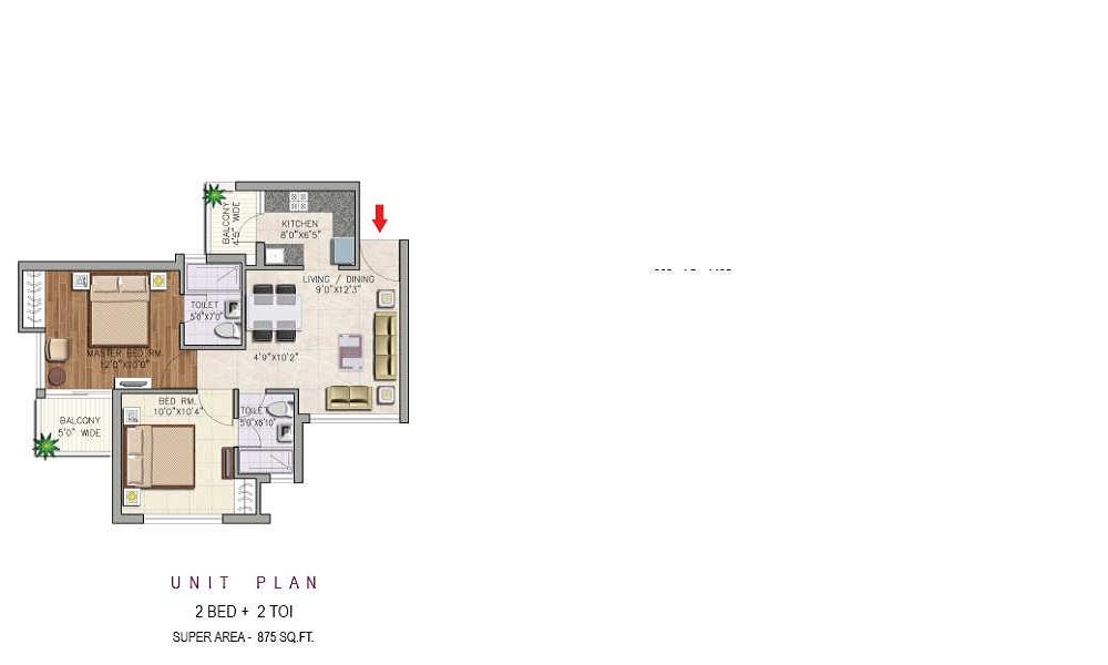 Aditya GZB Urban Casa Floor Plan