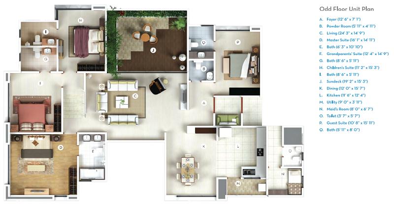 Gera Isle Royale Floor Plan