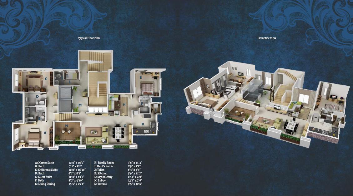 Gera Regent Tower Floor Plan