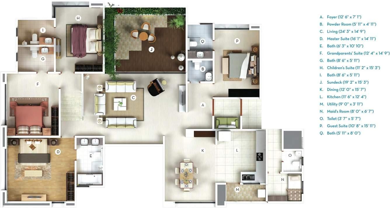 Gera Verbena High Rise Floor Plan