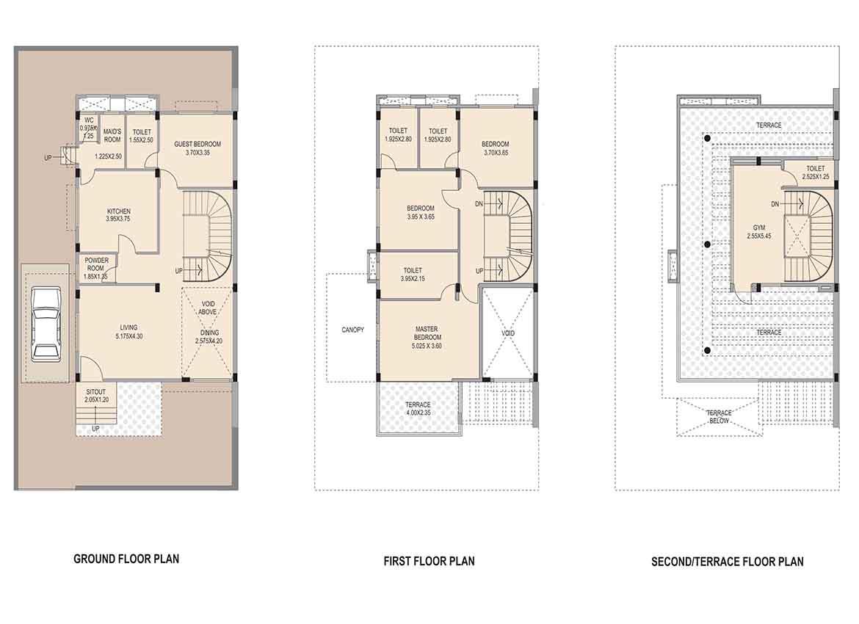 Amit Housing Bloomfield Villas Floor Plan