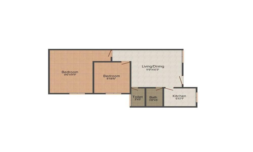 Mahindra Lifespaces Iris Court Floor Plan