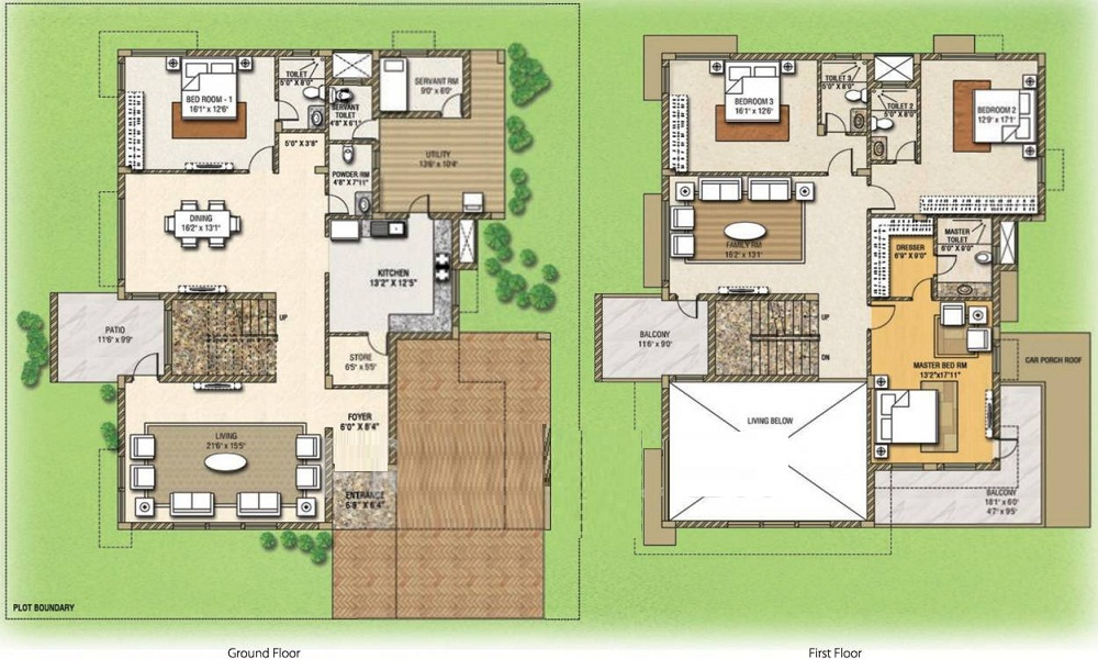Mahindra Lifespaces Aqualily Villa Floor Plan