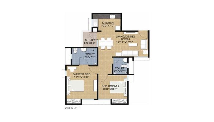 Adani The Evergreen Floor Plan