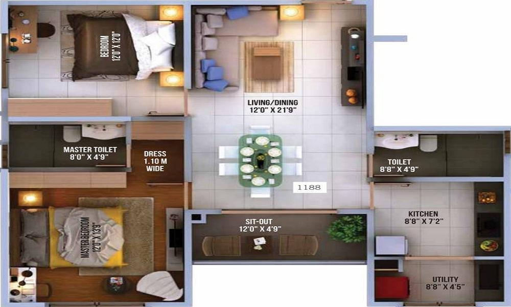 Vaishnavi North 24 Floor Plan