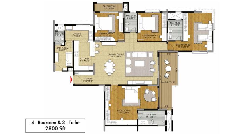 Salarpuria Sattva Greenage Floor Plan