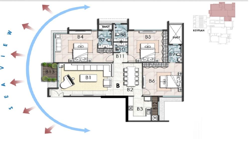 Ahuja Altus Floor Plan