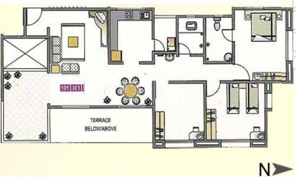 GK Developers Rose Valley Floor Plan