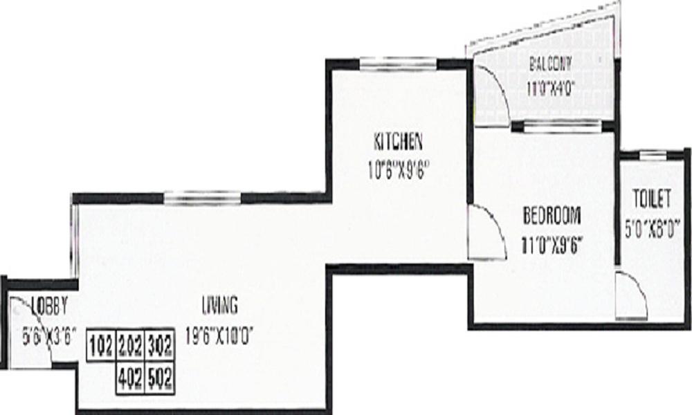 GK Dwarka Queens Park Floor Plan