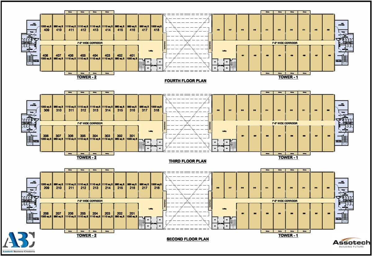 Assotech Business Cresterra Floor Plan