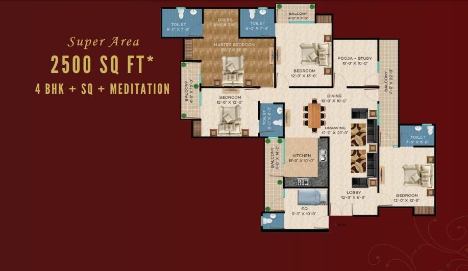Revanta Royal Town Heights - II Floor Plan