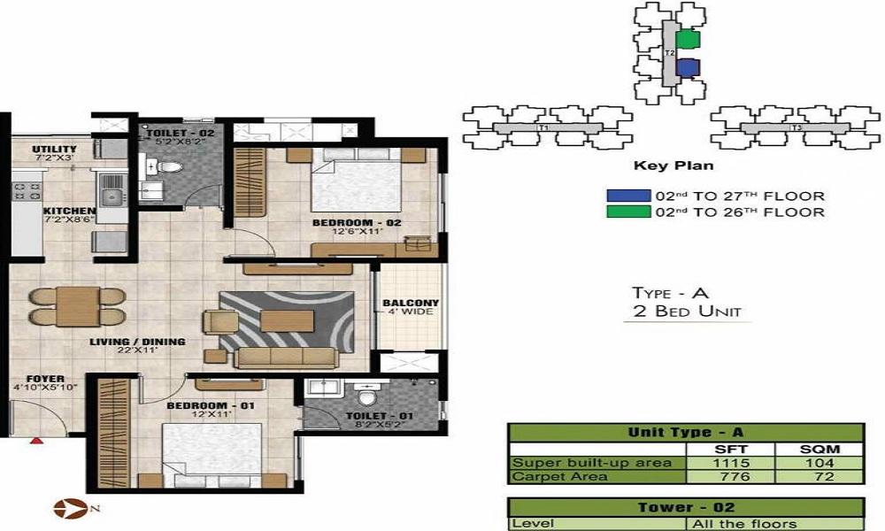Prestige Park Square Floor Plan