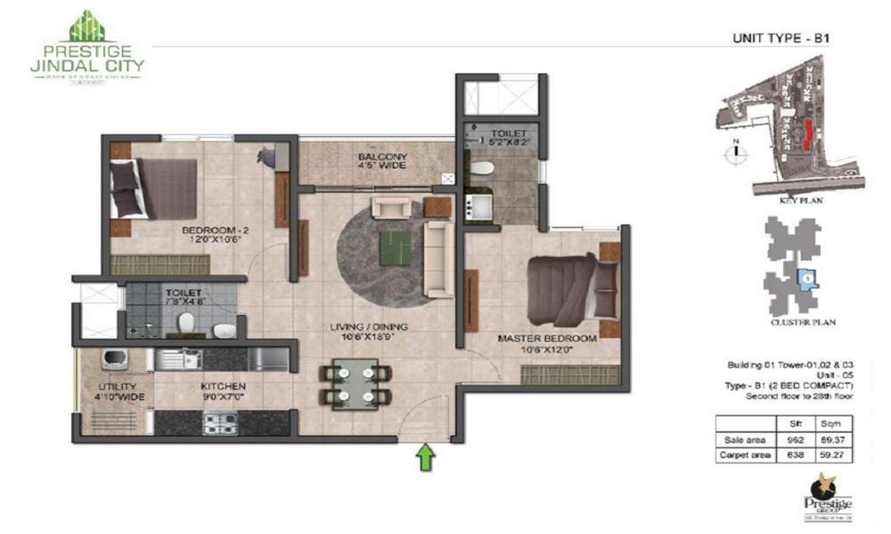 Prestige Jindal City Floor Plan