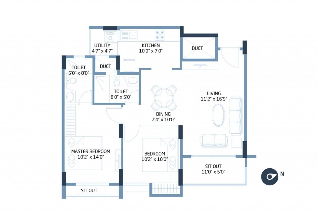 Goyal Orchid Footprints Floor Plan