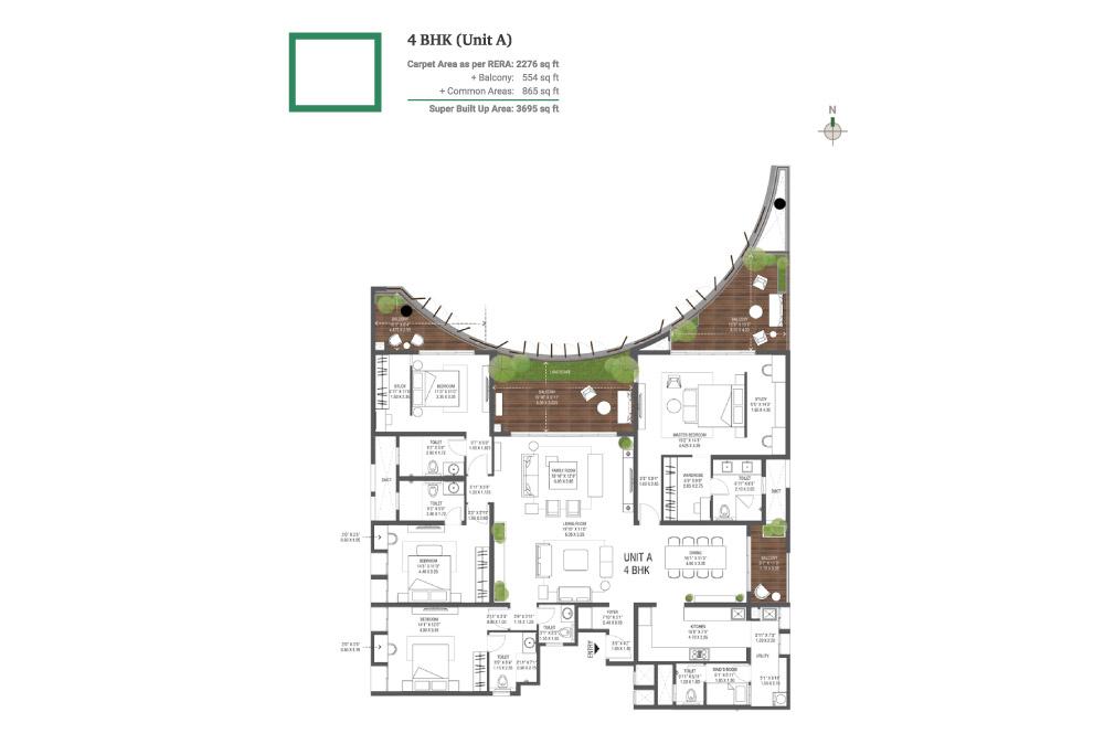 Assetz 38 Banyan Floor Plan