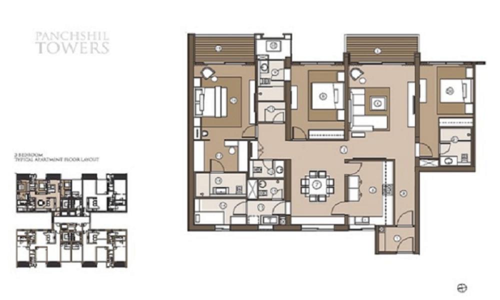 Panchshil Towers Floor Plan