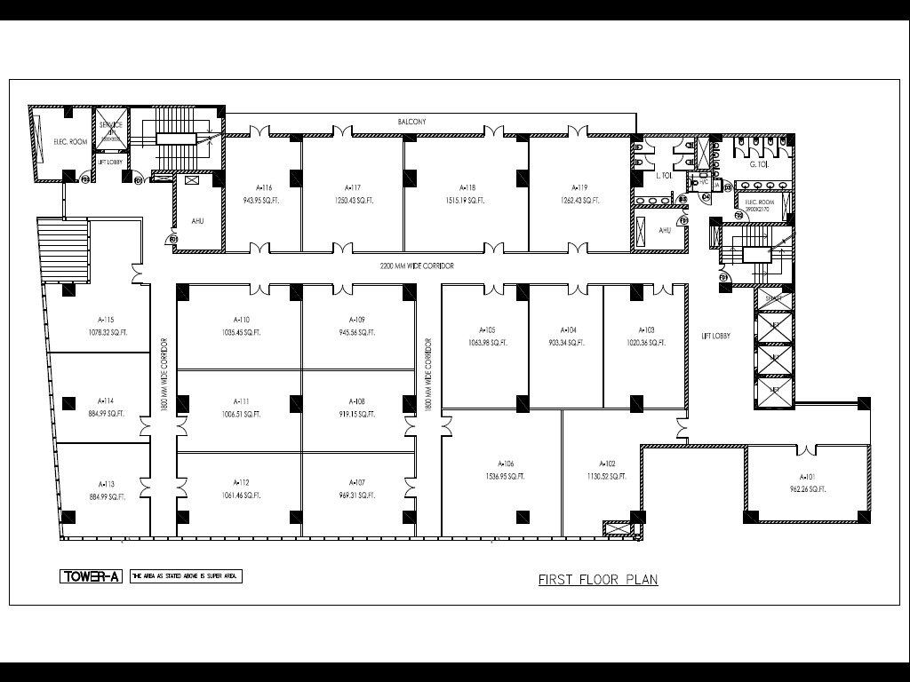 Noida One Floor Plan