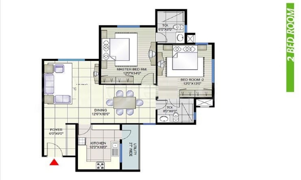 Prestige Shantiniketan Floor Plan