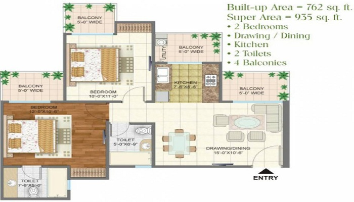 Arihant Arden Apartment Floor Plan