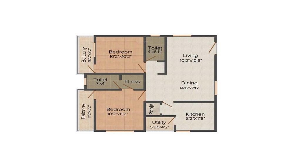 Galaxy North Avenue One Floor Plan