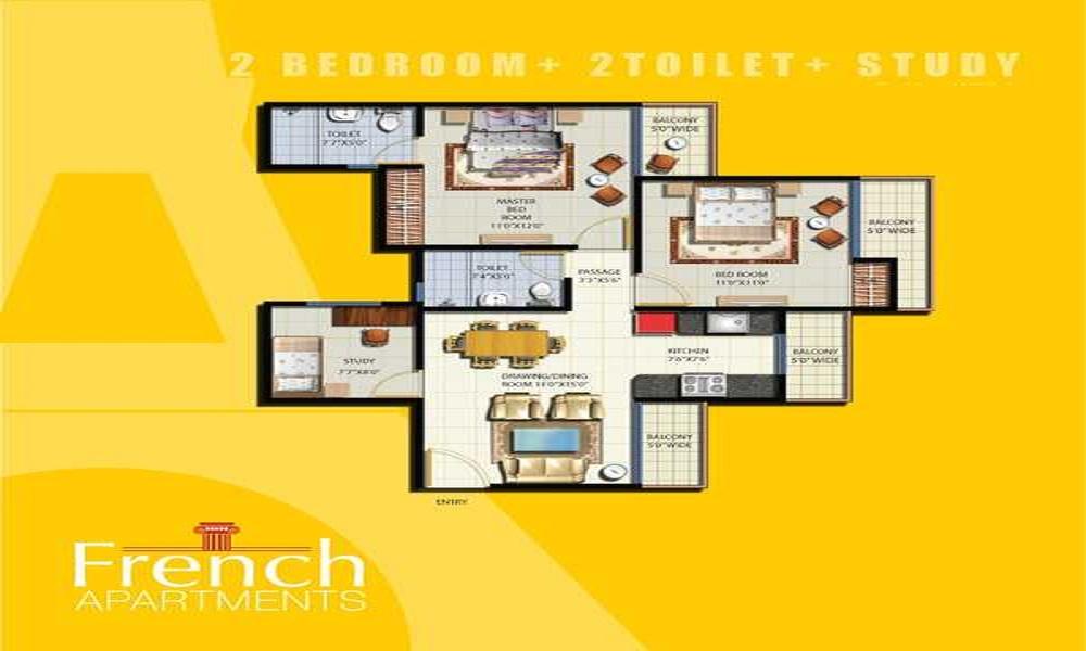 French Apartment Floor Plan