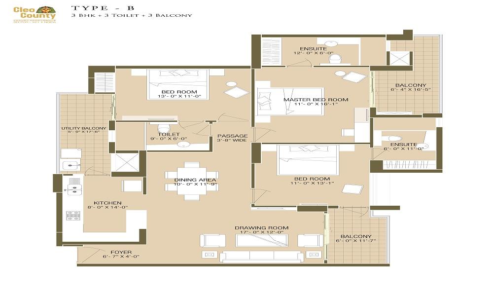 Cleo County Floor Plan