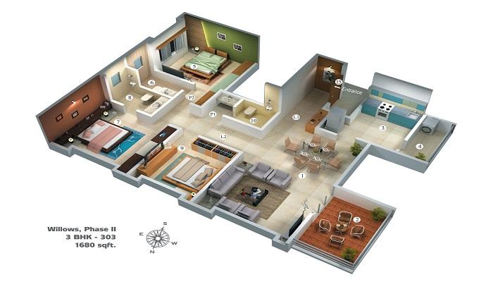 Vascon Willows Floor Plan
