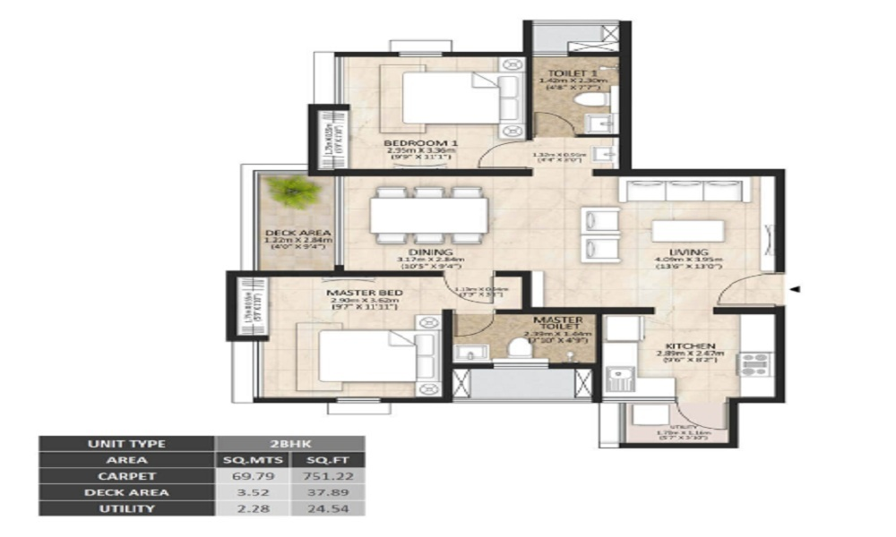 Mahindra Lakewoods Floor Plan