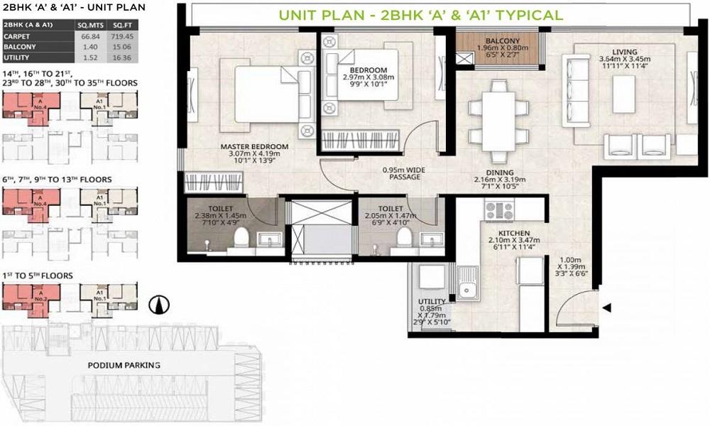 Mahindra Roots Floor Plan