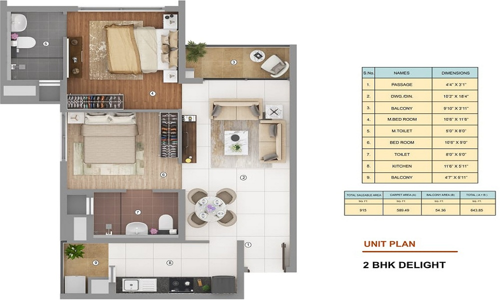 Shapoorji Pallonji Joyville Floor Plan