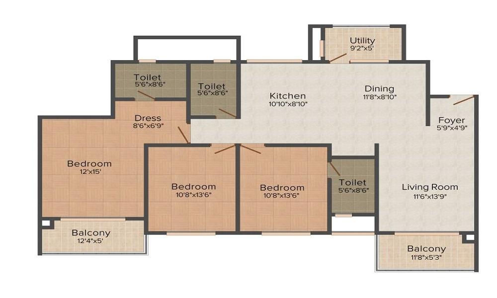 Vaswani Exquisite Floor Plan