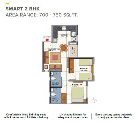 Shriram Codename Dil Chahta Hai Floor Plan