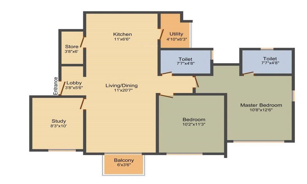 Adani Shantigram Meadows Floor Plan
