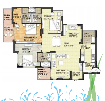 Adani Shantigram Water Lily Floor Plan
