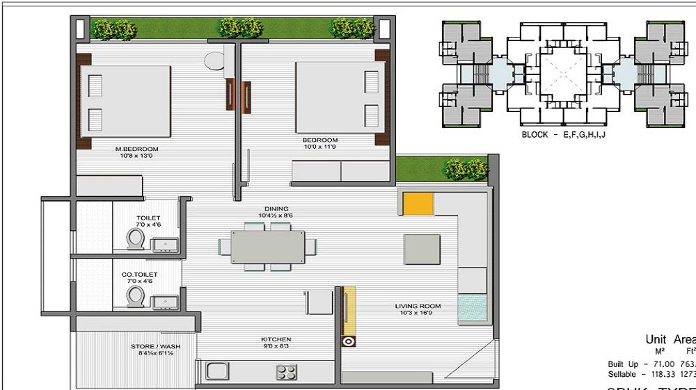 Gaur City Floor Plan