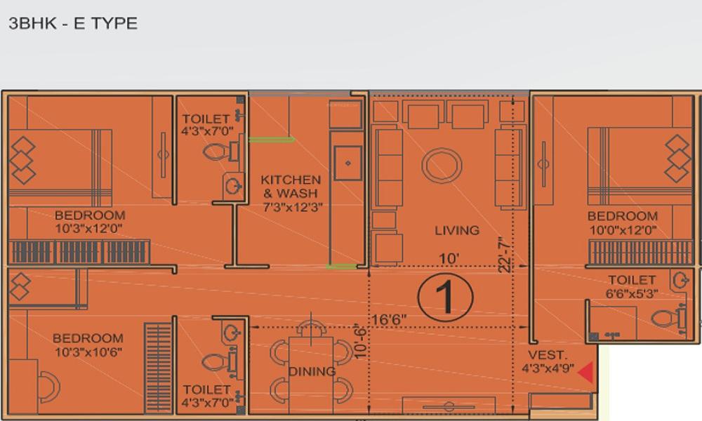 Bakeri Sivanta Floor Plan