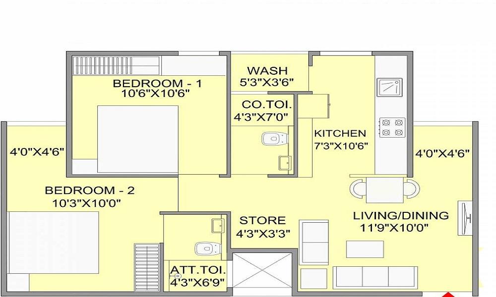 Bakeri Samyaka Floor Plan