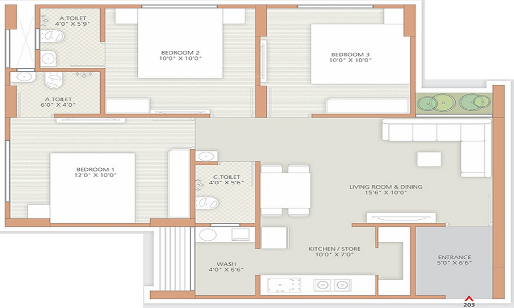 Reputed Stanza Floor Plan