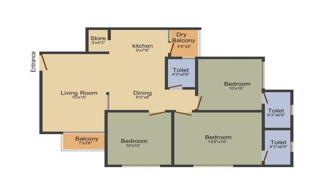 Vishwanath Sarathya Floor Plan