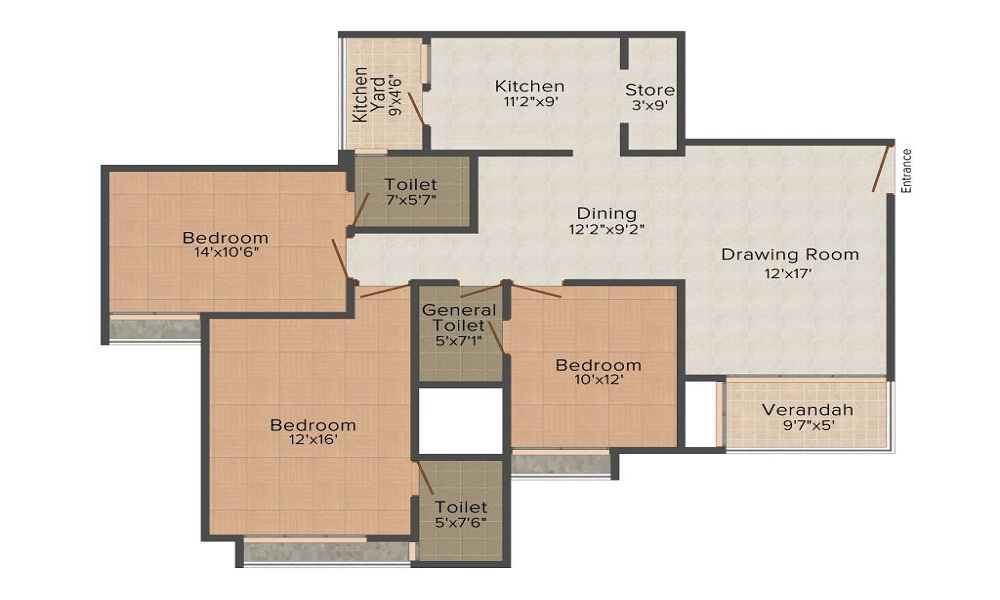 Goyal Orchid Heights Floor Plan